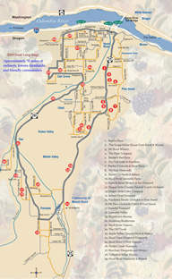 2019 Hood River County Fruit Loop Map
